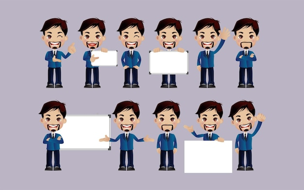 People with different poses vector