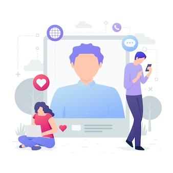 Люди с технологией устройств иллюстрации