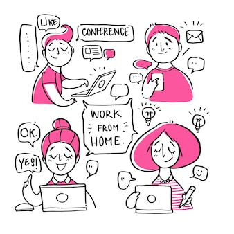 People with work from home