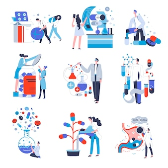 People working as specialist in pharmaceutical industry