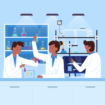 科学研究所で働く人々