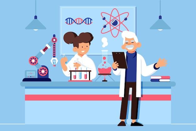Люди, работающие в научной лаборатории