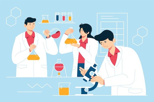 Persone che lavorano in un laboratorio scientifico