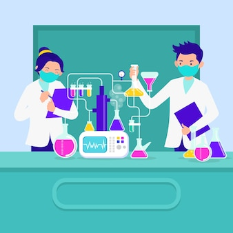 People working in a science lab