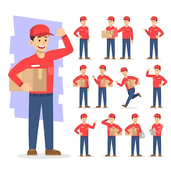 People working vector icon illustration character