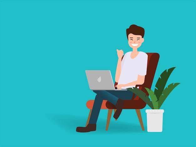 Люди, работающие с независимой работой ноутбука.