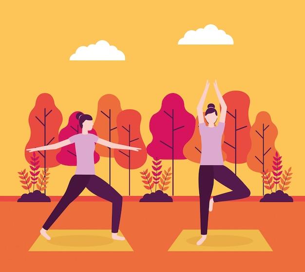 People yoga activity