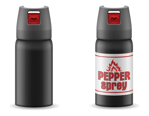 Pepper gas sprey self defense vector illustration