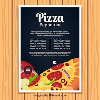 Pepperoni pizza brochure