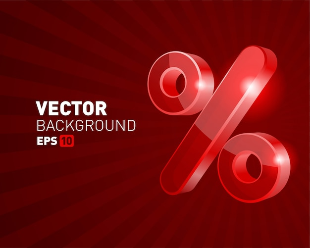 Percent discount symbol sale banner