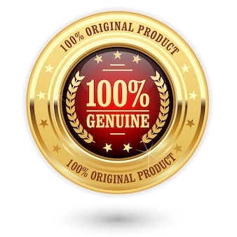 Percent genuine product - golden insignia (medal)