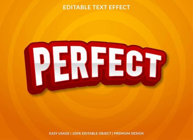 Perfect editable text effect premium style