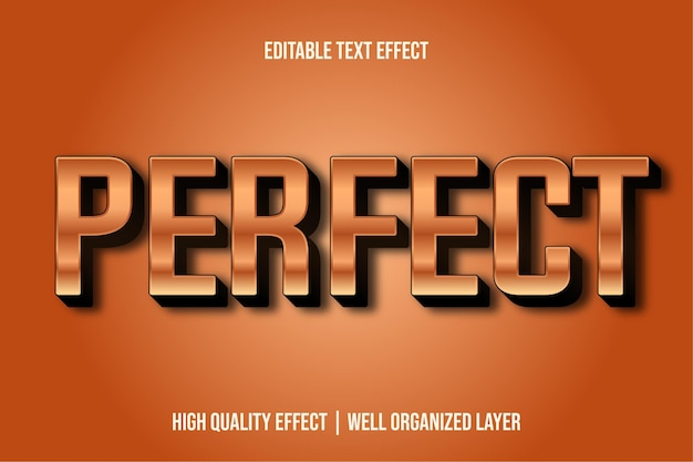 Perfect editable text effect style