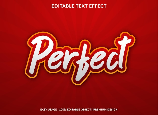 Perfect editable text effect template premium style