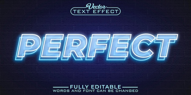 Perfect editable text effect template