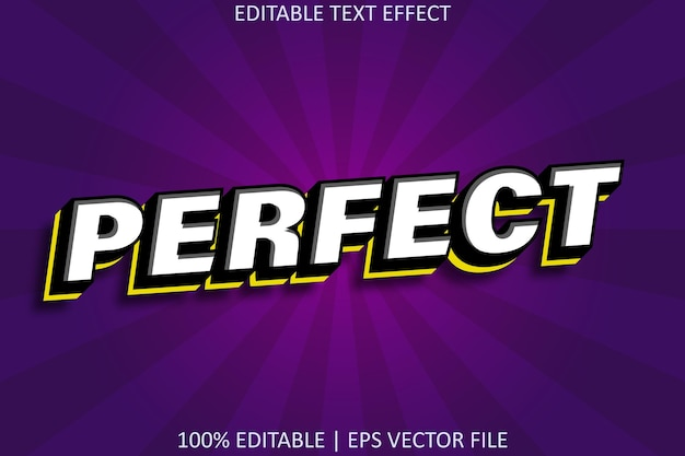 Perfect modern style editable text effect