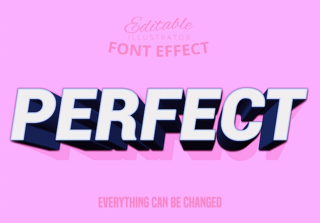 Perfect text, editable text style
