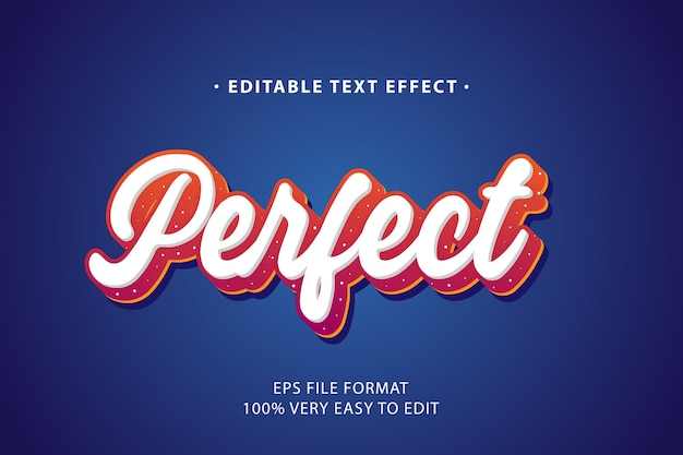 Perfect text effect, editable text
