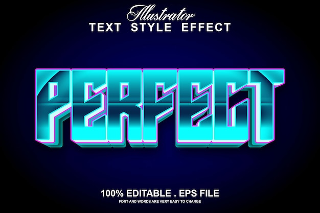 Perfect text effect editable