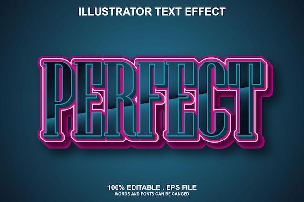 Идеальный текстовый эффект редактируемый