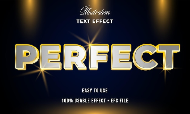 Perfect text effect