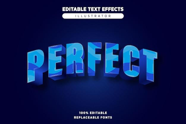 Идеальный текст, эффект редактируемый