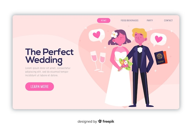 Perfect wedding landing page