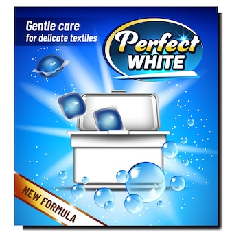 Perfect white wash powder advertise banner