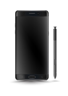 Perfectly detailed new smartphones galaxy note 7 style