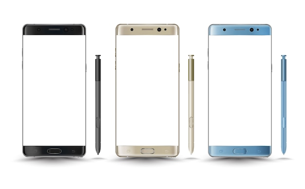 Perfectly detailed new smartphones galaxy note 7
