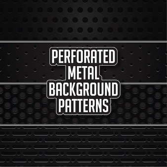 Perforated metal background patterns
