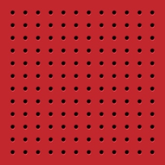 Perforated red seamless pattern