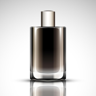 香水瓶のモックアップ、3dイラストの空白の化粧品ボトル