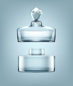 カバーの異なる香水瓶