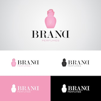 Шаблон дизайна логотипа бренда парфюмерии