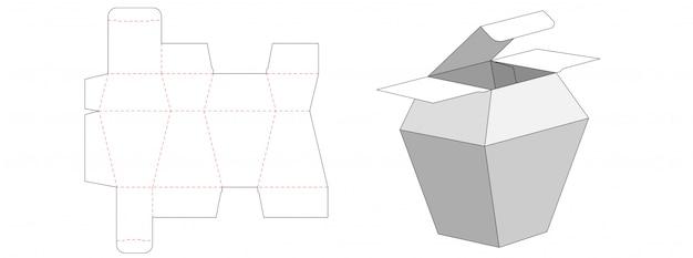 Perfume packaging box die cut template design