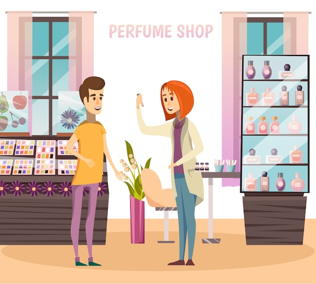 Perfume shop composition