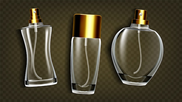Perfumery products, toilet water mockup set