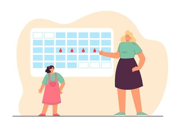 Period calendar illustration