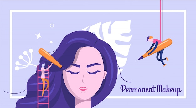 Permanent makeup banner background