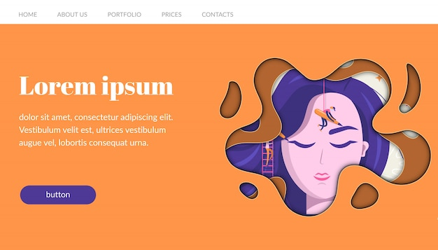 Шаблон сайта перманентного макияжа