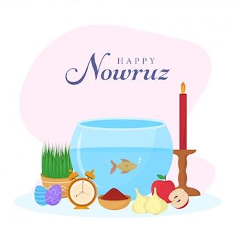 Persian new year happy nowruz background.