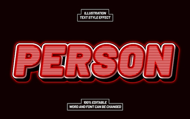Person 3d bold text style effect