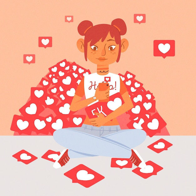 a person addicted to social media