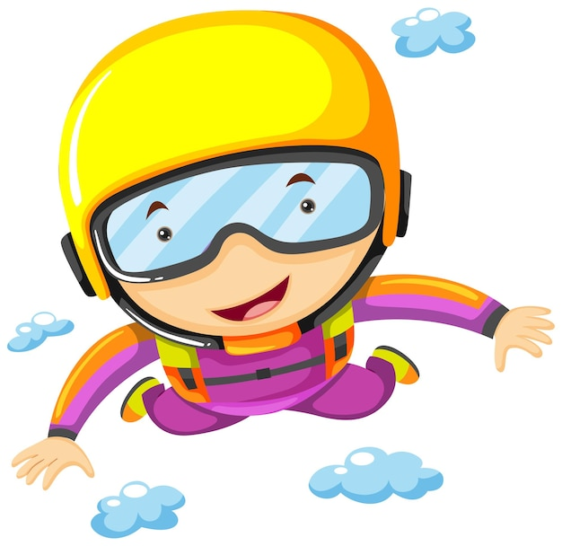 Person doing sky diving alone