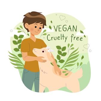 動物虐待を無料で抱きしめる人 無料ベクター