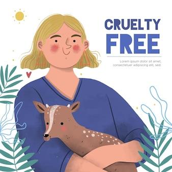 動物虐待を無料で抱きしめる人