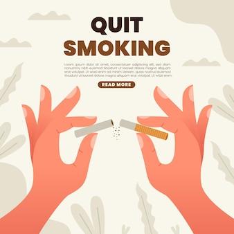 Человек бросает курить иллюстрированный