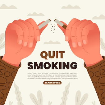 Человек бросает курить иллюстрации Premium векторы