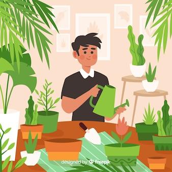 식물을 돌보는 사람